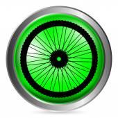 Bicycle wheel button — Stock Vector