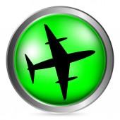 Airplane button — Stock Vector