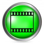 Film strip button — Stock Vector #60152215