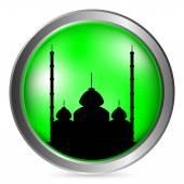 Mosque button — Stock Vector