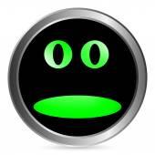 Face circle button — Stock Vector