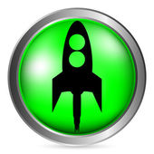 Starting rocket button — Stock Vector