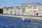 View of the Fontanka River in St.Petersburg — Stock Photo