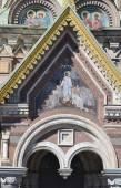 Fragment of orthodox cathedral Spas na Krovi — Stock Photo