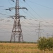 Summer landscape with power line — Stock Photo #61595893