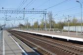 Railway station Slav — Stock Photo