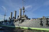 Aurora cruiser museum in St.Petersburg — Stock Photo