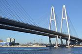 Big Obukhovsky Bridge in St.Petersburg. — Stock Photo