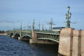 Trinity Bridge in St.Petersburg. — Stock Photo