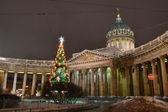 Kazan Cathedral at night. — Stock Photo