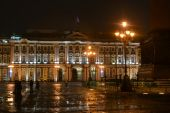 The State Hermitage Museum at night. — Stock Photo