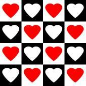 Amor corazón de patrones sin fisuras. — Vector de stock