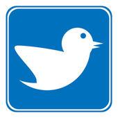 Botão de pássaro. — Vetor de Stock