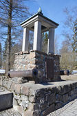 Battle Monument in 1741 between the Swedish and Russian troops. — Stock Photo