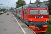Suburban electric train. — Stock Photo