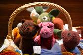 Soft toy handmade. Fair in Riga. — Stock Photo