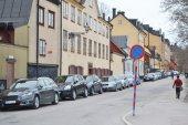 Straat in centraal deel van stockholm. — Stockfoto