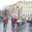 Cycle race on street of St.Petersburg. — Stock Photo #71403861