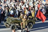 Victory parade in St.Petersburg. — Stock Photo