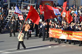 Communist demonstration on the Day of Victory. — Stock Photo