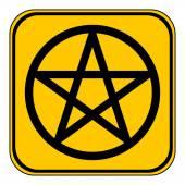 Pentagram button. — Stock Vector