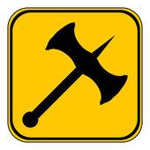 Battle axe button. — Stock Vector
