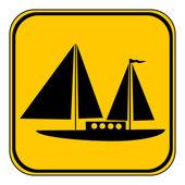 帆船ボタン. — ストックベクタ