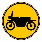 Motorcycle button. — Stock Vector