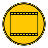 Film strip button. — Vettoriale Stock