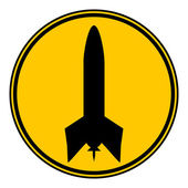 Rocket button. — Stock Vector