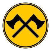 Crossed axes button. — Stock Vector