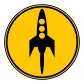 Starting rocket button. — Vetor de Stock