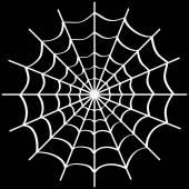 Teia de aranha em preto. — Vetor de Stock