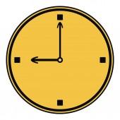 Ikona hodin. — Stock vektor