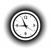 Clock button. — Stock Vector