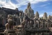 Bayon temple at Angkor Wat, — Stock Photo