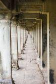 Ancient corridor at Angkor Wat  — ストック写真