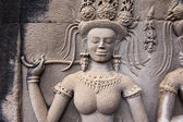 An Apsara in Angkor wat, Cambodia — Stock Photo