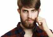 Bearded Hipster — Stock Photo