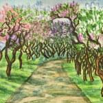 Постер, плакат: Lilac garden