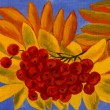 Ash berries, oil painting — Stock Photo #54755203