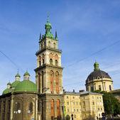Lvov, Assumption church — Stockfoto