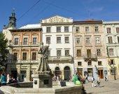 Lvov, Market square — Stock Photo