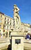 "Lvov, fountain ""Neptune"" — Stock Photo"