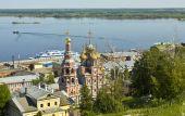 Nizhniy Novgorod, Stroganovskaya church — Stock Photo