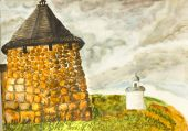 Solovetsky monastery, painting — Stock Photo