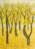 Autumn, painting — ストック写真