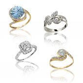 Set of rings. Best wedding and engagement ring — Stock Photo