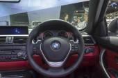 Interior of BMW car — Stock Photo
