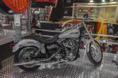 Harley - Davidson DYNA Super Glide Custom Motorcycle — Stock Photo